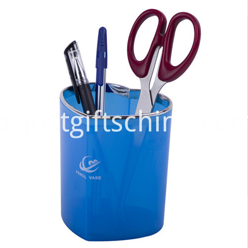 Promotional Logo Heart-shaped Pen Holder Pot 1